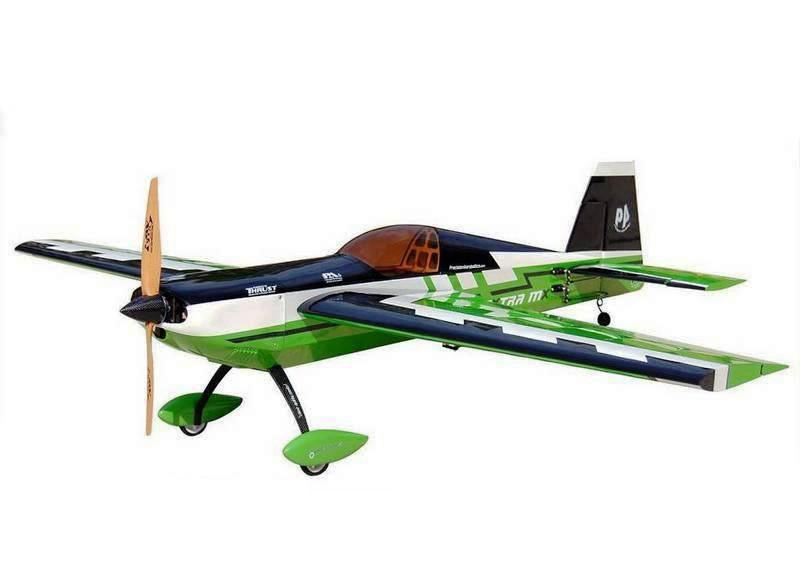 Самолёт р/у Precision Aerobatics Extra MX 1472мм ARF (зеленый)