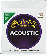 Струны для акустической гитары  MARTIN M170X Traditional Acoustic 80/20 Bronze Extra Light (10-47)
