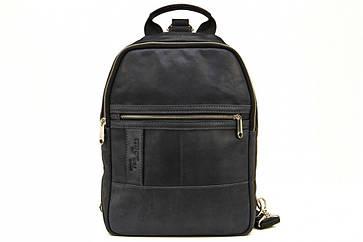 Мужской кожаный рюкзак Tom Stone 410 синий