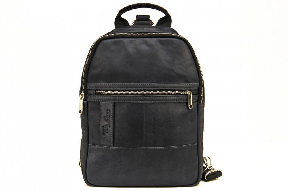 6dd866624e07 Мужской кожаный рюкзак Tom Stone 410 синий - Интернет-магазин