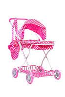 Детская коляска melogo 9325 для кукол зимняя с сеткой с сумкой 42,5*35*67см