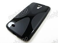 Полимерный TPU чехол Samsung Galaxy Mega 6.3 i9200 (черный)
