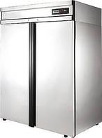 Холодильный шкаф из нержавеющей стали с металлическими дверьми polair grand CM114-G