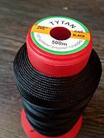 Нитка швейная TYTAN N20 Black цвет черный 500м. Турция