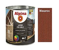 Лазурь-лак алкидный ALPINA LASUR FUR HOLZ для древесины, махагон, 0,75л