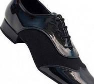 Туфли танцевальные для мальчиков Стандарт! натуральная кожа, лак