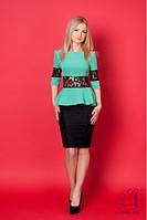 Платье  женское сукня баска  с кружевом 42 44 46 48 50 Р, фото 1