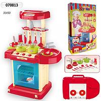 Игровая детская кухня со звуком и светом 008-58. Красная