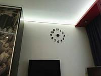 Часы интерьерные настенные с арабскими цифрами (диаметр 0,5 - 0,7 м) черные матовые M-03-B-BLACK