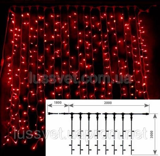 Гирлянда внешняя DELUX CURTAIN 2х3 10008259 красный