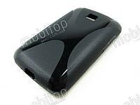 Полимерный TPU чехол LG Optimus L3 II Dual E435 (черный)