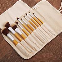 Эко-набор кистей для макияжа 10 шт Eco Luxe - 10 Piece Brush Set BH Cosmetics Оригинал