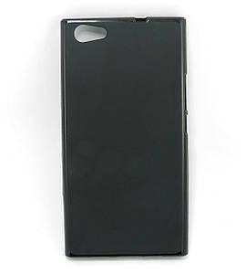 Чехол накладка для Doogee Y300 силиконовый матовый, Черный