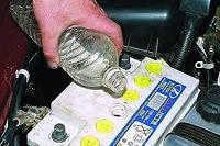 Электролит из батарей и аккумуляторов отработанный
