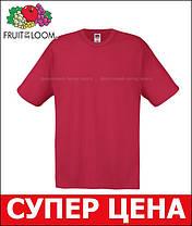 Мужская Футболка Лёгкая Fruit of the loom Кирпично-Красный 61-082-Bx S, фото 3