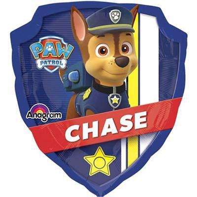 Фольгированная фигура в виде полицейского значка -  Чейз (из Щенячего Патруля)