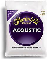 Струны для акустической гитары MARTIN M175 Traditional Acoustic 80/20 Bronze Custom Light (11-52)