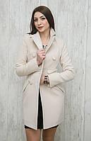Элегантное женское пальто из кашемира с пуговицами в два ряда персик, шоколад, кемел, серое, темно-синее, светлый беж