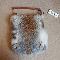 Меховая сумка женская из натурального меха лисы