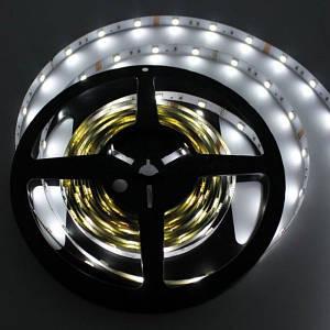 LED лента ECO SMD 3528, 60 диодов/м, 12V, 4.8W/m, 9lm, IP20, негерметичная, 5 метров, белая