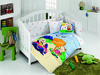 Постельное белье в детскую кроватку Afacan голубой (для младенцев)