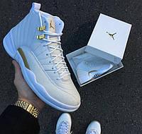 Мужские кроссовки Nike Air Jordan 12 OVO All White