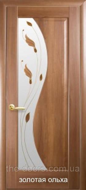 Дверь Эскада Р1 стекло сатин с рисунком