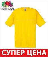 Мужская Футболка Лёгкая Fruit of the loom Жёлтый 61-082-K2 S