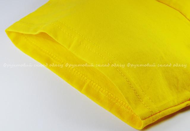 Жёлтая мужская лёгкая футболка