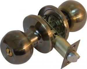 Ручка кнопка 607 (3587) AB ант.латунь с кл