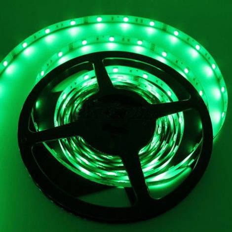 Светодиодная лента SMD 3528, 60 диодов/м, 12V, 4.8W/m, 9lm, IP20, негерметичная, 5 метров, зеленая