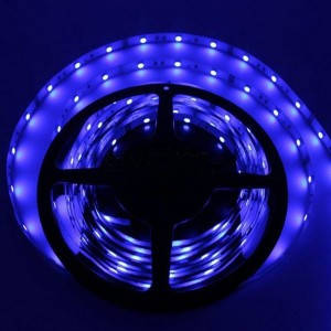 Светодиодная лента SMD 3528, 60 диодов/м, 12V, 4.8W/m, 9lm, IP20, негерметичная, 5 метров, синяя
