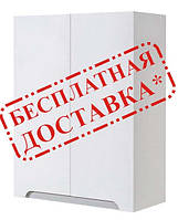 Шкаф для ванной навесной Симпл металлик 60-02