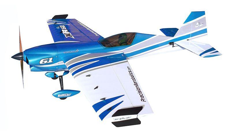Самолёт р/у Precision Aerobatics XR-52 1321мм ARF (синий)
