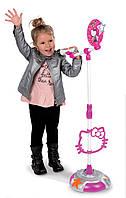 Музыкальный инструмент микрофон со штативом Hello Kitty Smoby 27293