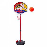 Стойка баскетбольная с мячом, сеткой и насосом детская CHILD