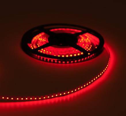 Светодиодная лента SMD 3528, 120 диодов/м, 12V, 9.6W/m, 9lm, IP20, негерметичная, 5 метров, красная