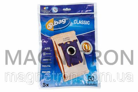 Набор мешков бумажных (5шт) E200 S-BAG для пылесосов Zanussi 9000844804