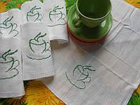 Набор хлопковых сервировочных полотенец *Зеленый чай* 6 шт.