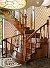 Лестница винтовая, гнутые перила, балюстрада, резные элементы