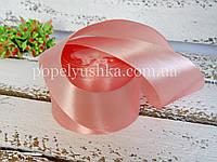 Лента атласна 5см рожева пудра