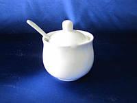 Сахарница Фарфоровая белая 18656
