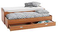 Кровать кушетка ольха с нишами 80/160x200см