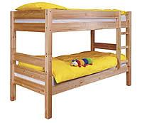 Детская кровать двух ярусная деревянная