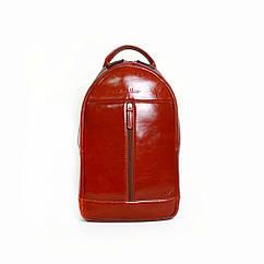 Мужской кожаный рюкзак Issa Hara ВР1 рыжий