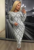 """Платье """"Офелия"""", бело-чёрный дизайн"""