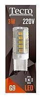 LED лампа Tecro T-G9-3W-220V, 4100K, 240Лм, угол 360° (01-11-63) шт.