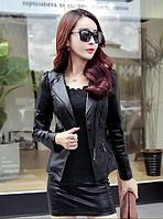 Жіноча шкіряна куртка. Модель 2031, фото 2