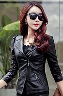 Жіноча шкіряна куртка. Модель 2031, фото 3