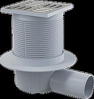Трап с гидрозатвором Alca Plast APV31 (нерж. крышка) угловой 105х105 мм Ф 50 SMART